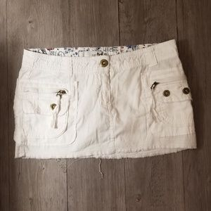 Zara TRF White Mini Skirt